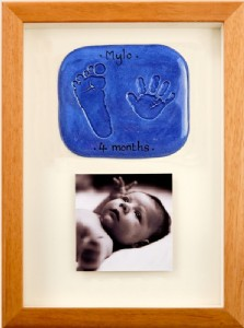 Imprint - double - wood frame - photo - complete